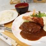 ピーコック - 2016年1月 ピーコックランチ【1200円】有頭エビに手作りハンバーグとは!まともな洋食です!
