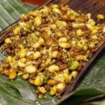 蓮香 - 発芽大豆 ささげ漬物 ひき肉炒め