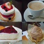 サント・アン - ケーキ色々+ロイヤルミルクティー