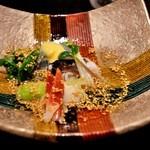 竹ざき - 酢のものもその場で調理。とり貝やほっき貝で。