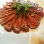 居酒屋 馬関彩 - 牛肉のたたき