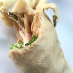 クレープのくーぷ - 料理写真:ハムチーズクレープ  一口パクリ☆
