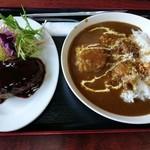ファミリーレストラン ニューあぶくま - ハンバーグ&カレーライス(1100円)
