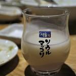 焼肉居酒屋 マルウシミート - マッコリ