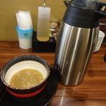 麺屋 もず - 最後はスープ割で