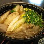 グルメ・きむら - きりたんぽ鍋完成…