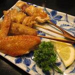 グルメ・きむら - 比内地鶏串焼盛合せ。
