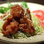 和食処 まる - 地鶏のバリバリ揚げ600円