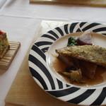 48303294 - みやじ豚と三浦大根のステーキ。樽熟バルサミコソース。&三浦野菜のケークサレ1800円