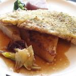 48303304 - みやじ豚と三浦大根のステーキ。樽熟バルサミコソース。1800円