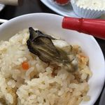 カキ小屋フィーバー - 牡蠣ご飯