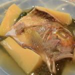 料理 吉祥寺 わるつ - 筍と甘鯛の酒蒸し桜餡掛け