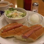 シンバシベーカリー・プラス・カフェ - モーニングCセット 515円。