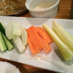 牡蠣とシャンパン 牡蠣ベロ - 野菜スティック