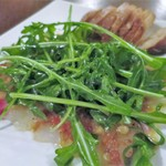 コテ・フー - 真鯛のカルパッチョを松の実とアンチョビのソースで