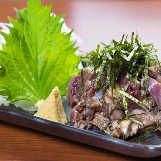 【一、焼き。二、生】鶏肉本来の味が味わえる「タタキ」