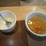 グリル小川 - スープ付いてます