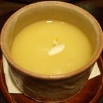 料理屋 仁 - 料理写真:ホワイトアスパラの茶碗蒸し(28年3月)