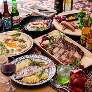 世界中のお料理を一度に味わえる世界一周スタンダードコース