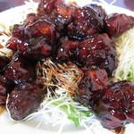 林商 - 地鶏の黒酢。