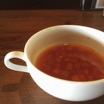 備長炭イタリアン 創 - スープはミネストローネ