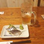 北の庄や - 〆サバ/生ビール
