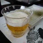 新島水産 - ☆友人はビールをグビグビ☆