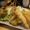 夕菜 - 料理写真:ブロッコリー、海老紫蘇、鶏セロリの串。
