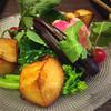 仁木家 - 料理写真:生野菜柚子味噌(フライドポテト、ブロッコリー、菜の花、バイオレットハーモニー、紅芯大根、ラディッシュ)