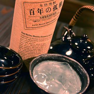こだわりの焼酎と地酒