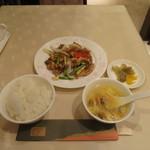 煌蘭 - 鶏もも肉の豆鼓醤炒めランチ