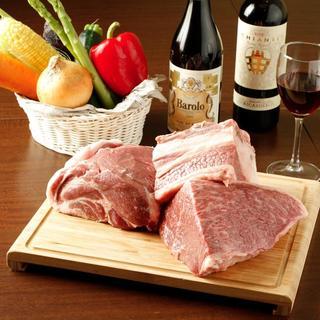 【こだわりの肉】淡路の猪豚・和牛A5ランク【量り売り】