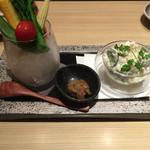48335481 - 北海道産 ポテトサラダと朝採り野菜 1,080円