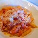 48337626 - Bセット  1400円 ペンネ ベーコンと玉葱、ペコリーノチーズのトマトソース