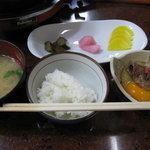 肉の大河原 - ご飯セット