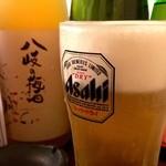 魚と酒と串 ちろり - 生ビール