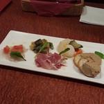 tre Bottiglie - 前菜5種1300円