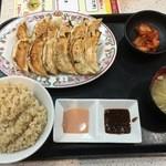 Gyouzanooushou - 玄米餃子定食750円(税別)