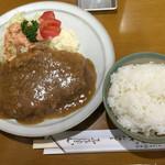 とんかつ やまと - ロース生姜焼き(上)+ライス(1,300円+210円)
