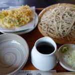 手打蕎麦相州 昭庵 - かき揚げ天ざる