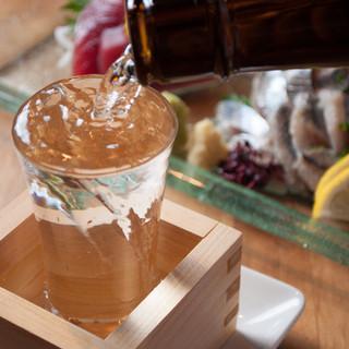 日本酒は和麺や料理と相性ぴったりなもののみご用意しました。