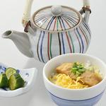 八かく庵 - 鰻もどきの出汁茶漬け 香の物  豆乳アイス