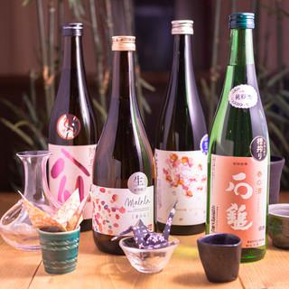 料理に合うこだわりの日本酒!飲み放題で更にお得!