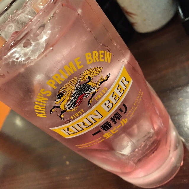 満うま 川崎本店 - 紫蘇サワー(350円+税)2016年3月