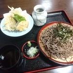 海鮮、定食、天ぷらと酒 舟源 - 天ざる大盛り(¥850)