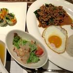 タイレストラン タニサラ - パッカパオセット 税込1180円