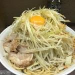 48376517 - 大ラーメン 汁なし+ネギ(野菜・ニンニク少し) ¥740+80+100