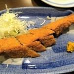宝泉 - サンマ味噌カツ¥390 宝泉名物料理
