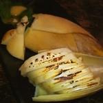 焼鳥 たすく - 炙り竹の子刺❤ ヾ(*≧∀≦)ノ゙