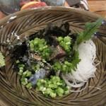 けごや 鰓 - 友人お勧めのごまさば、 毎朝長崎県五島から直送で来る活き鯖でつくられたごまさばは絶品でした。